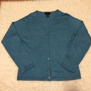 Sigrid Olsen silk blend cardigan size medium